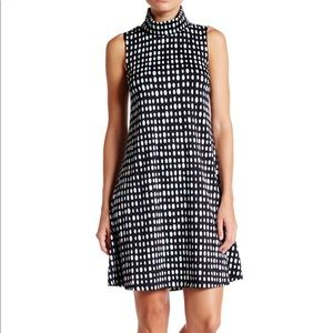 Julie Brown Turtleneck Sleeveless Dress